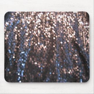 Silver- och blåttsparkles mus matta