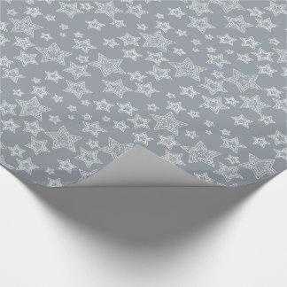 Silver och glitter presentpapper