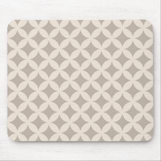 Silver och kräm- Geocircle design Musmatta
