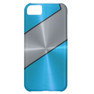 Silver och metallisk blåttrostfritt stål iPhone 5C fodral