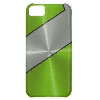Silver och metallisk gröntrostfritt stål iPhone 5C fodral