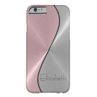 Silver- och rosarostfritt stålmetall barely there iPhone 6 skal