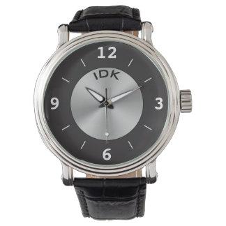 Silver och svart för MONOGRAMKLASSIKER | Armbandsur