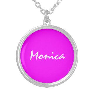 Silver pläterat halsband för Monica