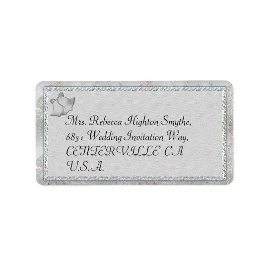 Silver sätta en klocka på bröllopadressetiketter adressetikett