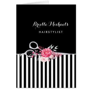 Silver Scissors den rosa blom- hårsalongen för OBS Kort