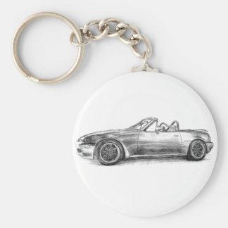 Silver skuggar MX5 Rund Nyckelring