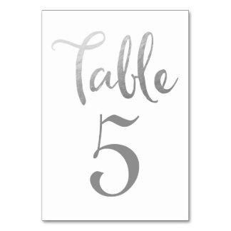 Silver som gifta sig bordsnummertypografikort