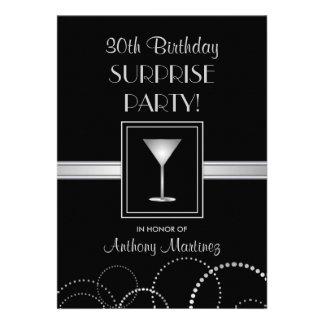 Silver svart för 30års födelsedagöverrrakningpar