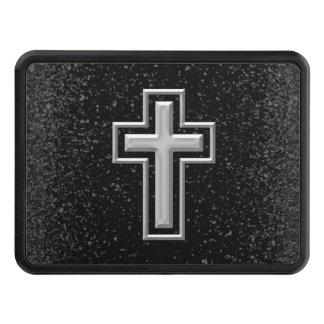 Silver tonar kristenkor på svart gnistra skydd för dragkrok