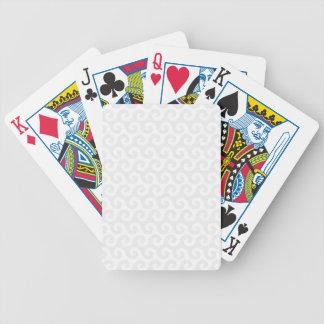 Silver- & vitvågar - snyggt & roligt mönster spelkort