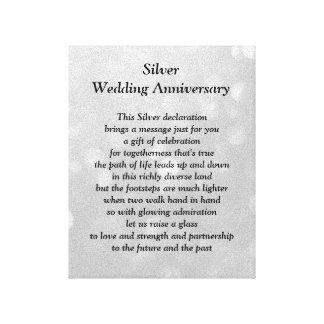 Silverbröllopsdagkanfas Canvastryck