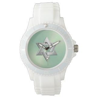 Silverdavidsstjärna på Mintgrönt Armbandsur