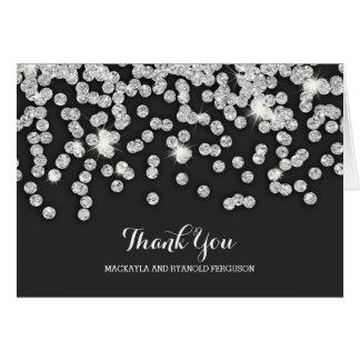 Silverdiamanter som gifta sig tack OBS kort