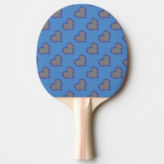 Silverhjärtor på blåttpingen Pong paddlar Pingisracket
