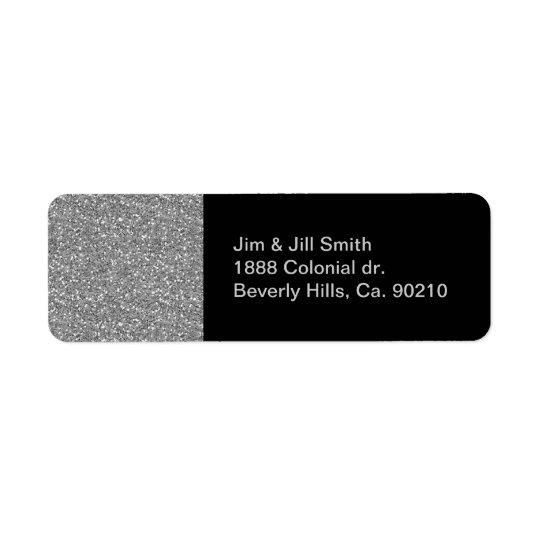SilverShimmerglitter Returadress Etikett