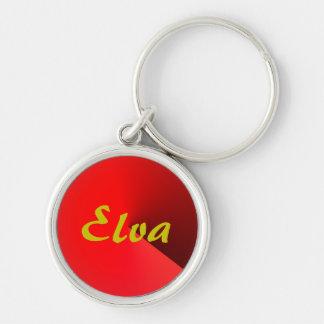 Silvrig nyckelring för röd stil för Elva