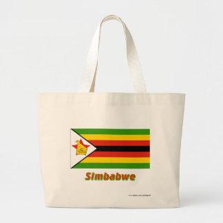 Simbabwe Flagge mit Namen Tygkasse