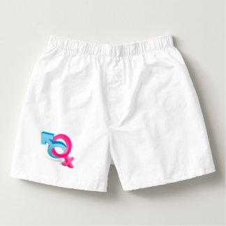 simbolo mujer y hombre boxers