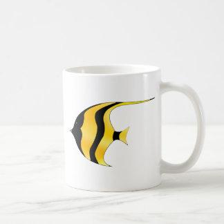 Simma fisken vit mugg