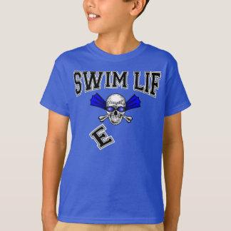 Simma liv här för att simma här för att segra t-shirts
