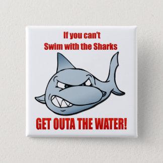 Simma med hajarna standard kanpp fyrkantig 5.1 cm