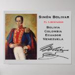 Simón Bolivar* väggaffisch Affisch