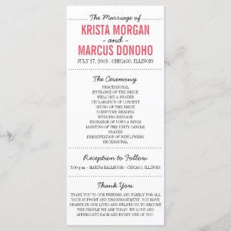 Simple Silhouettes Wedding Program Rack Card