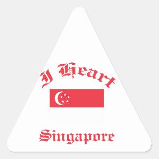 Singapore design triangelformat klistermärke