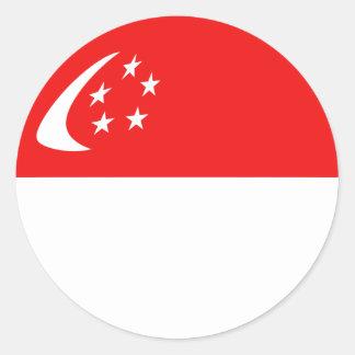 Singapore Fisheye flaggaklistermärke Runt Klistermärke