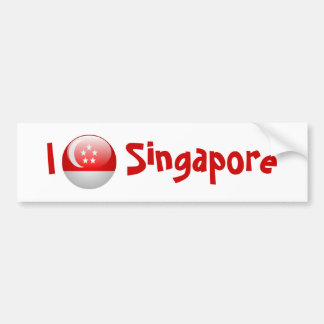 Singapore flagga bildekal