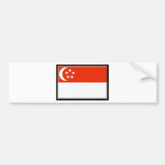 Singapore flagga bildekal