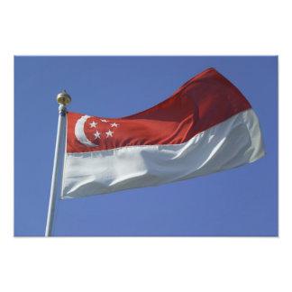 Singapore flagga fototryck