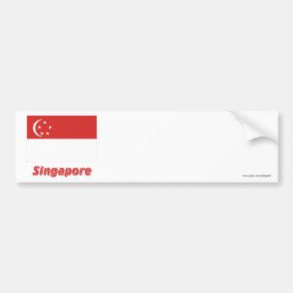 Singapore flagga med namn bildekal