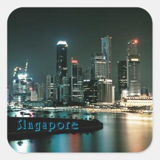 Singapore Fyrkantigt Klistermärke