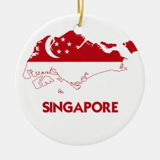 SINGAPORE KARTA RUND JULGRANSPRYDNAD I KERAMIK