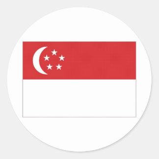 Singapore medborgareflagga runt klistermärke