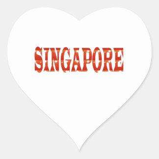 SINGAPORE: Medborgarepride n som firar MÅNGFALD Hjärtformat Klistermärke