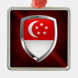 Singapore metallisk Emblem Julgransprydnad Metall