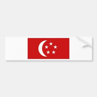 Singapore presidentflagga bildekal