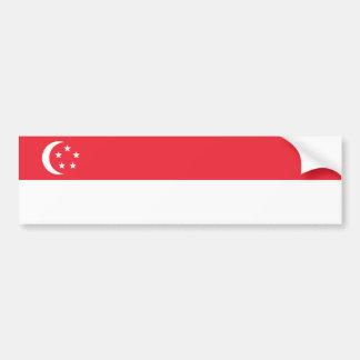 Singapore/singaporiansk flagga bildekal