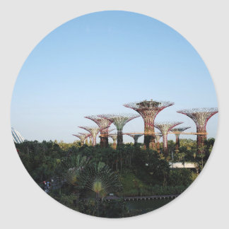Singapore-Trädgård vid fjärden Runt Klistermärke