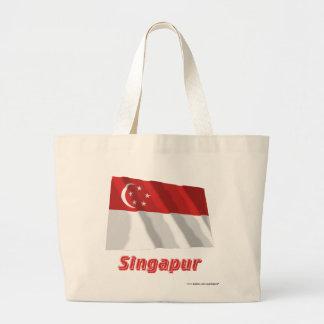 Singapur Fliegende Flagge mit Namen Tygkassar