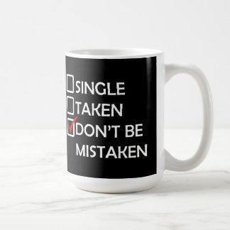 Singel tagen missförstådd valentin dagmugg kaffemugg