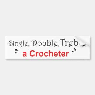 Singeln dubbla, Treble en Crocheter Bildekal
