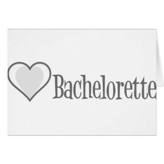 SingleHeart-Bachelorette-Grå färg Hälsningskort
