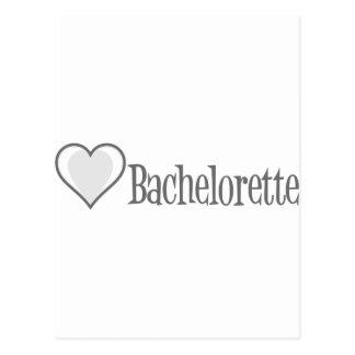 SingleHeart-Bachelorette-Grå färg Vykort