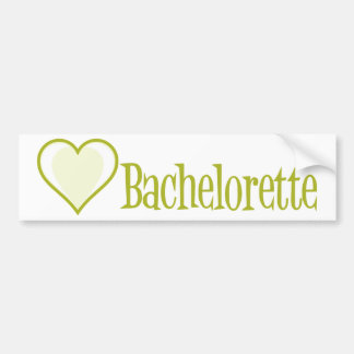 SingleHeart-Bachelorette-Ylw Bildekal