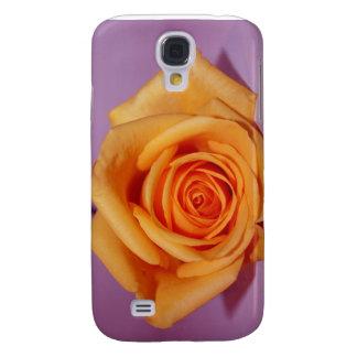 SingleRosePalePurpleBack Galaxy S4 Fodral