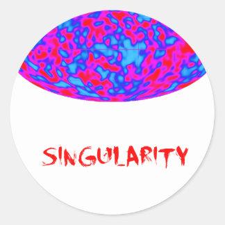 singularity med mikrovåguniversum runt klistermärke